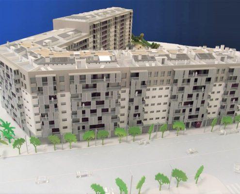 Maqueta edificio domótico promoción 9C